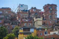 Slum at Rio de Janeiro, Brazil. Favela houses architecture at Rio de Janeiro, Brazil Stock Photography
