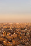 Slum roofs in Cairo Egypt showing trash Royalty Free Stock Photos