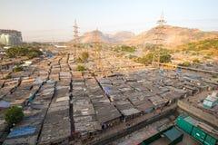 Slum Rooftops in Mumbai Stock Photography