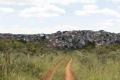 Slum. A slum in Sao Paulo, SP, Brazil royalty free stock image
