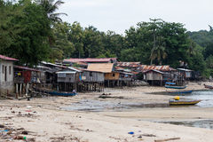 Slum In the seaside Stock Photos