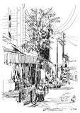 Slum-sketch Stock Images
