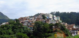 Slum. On neighborhood of Sao Paulo, Brazil royalty free stock images
