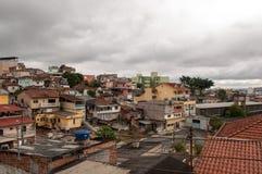 Slum suburb of sao paulo royalty free stock image