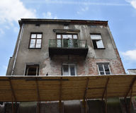 Slum in Warsaw royalty free stock images