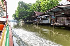 Slum on water in Thailand Stock Photo