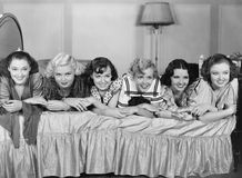 SLUMBER PARTY. (All persons depicted are no longer living and no estate exists. Supplier grants that there will be no model release issues Royalty Free Stock Photos
