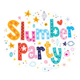 Slumber party. Decorative type lettering design Stock Photography