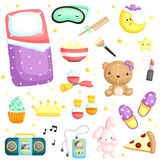 Slumber Party Items Vector Set Stock Images