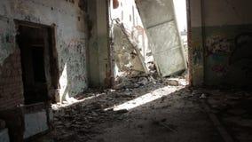 Slumkvarter övergav byggnader 1 lager videofilmer