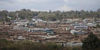 Slumkvarter av kiberaen, Kenya Fotografering för Bildbyråer