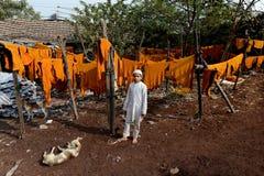 Slumkvarter Indien Arkivbilder