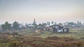 Slumkvarter Myanmar Arkivbild