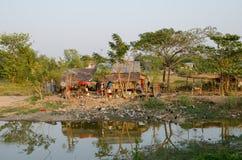 Slumkvarter Myanmar Royaltyfria Bilder