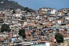 Slumkvarter Rio de Janeiro Arkivbilder