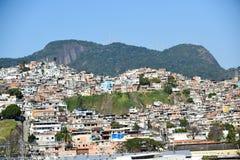 Slumkvarter Rio de Janeiro Fotografering för Bildbyråer