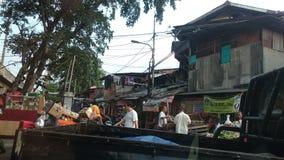 Slumområde i Jakarta Royaltyfri Fotografi