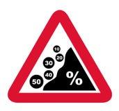 Slump of prices (sale) Stock Image