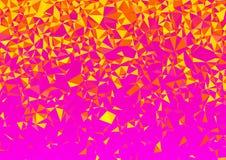 Slumpmässig bakgrund för låg Poly rosa vektor för affärspresentationer Royaltyfri Foto