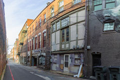 Slumpmässig byggnad i Asheville, North Carolina, USA Arkivbild