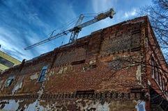 Slumpmässig byggnad i Asheville, North Carolina, USA Arkivbilder