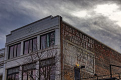 Slumpmässig byggnad i Asheville, North Carolina, USA Royaltyfria Foton