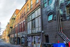 Slumpmässig byggnad i Asheville, North Carolina, USA Royaltyfria Bilder