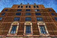 Slumpmässig byggnad i Asheville, North Carolina, USA Royaltyfri Foto