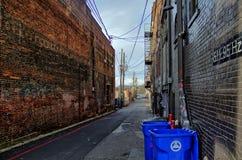 Slumpmässig byggnad i Asheville, North Carolina, USA Royaltyfri Bild