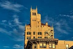 Slumpmässig byggnad i Asheville, North Carolina, USA Fotografering för Bildbyråer