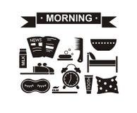 Slumpmässig morgonuppsättningsvart Arkivbild