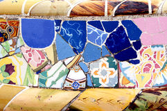 Slumpmässig mosaisk modell - Gaudi Arkivbilder