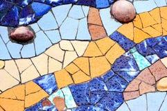 Slumpmässig mosaisk modell - Gaudi Royaltyfri Bild