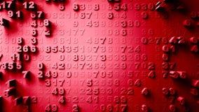 Slumpmässig rörelse för abstrakta nummer Arkivbilder