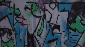 Slumpmässig vägg med grafitti Royaltyfri Foto
