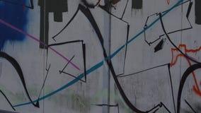 Slumpmässig vägg med grafitti Royaltyfria Foton