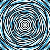 Slumpmässiga koncentriska cirklar Abstrakt bakgrund med ojämn ci Arkivbilder