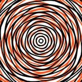 Slumpmässiga koncentriska cirklar Abstrakt bakgrund med ojämn ci Royaltyfri Bild