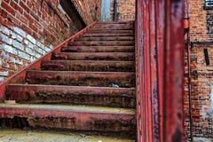 Slumpmässiga moment till en byggnad i Asheville, North Carolina, USA Royaltyfria Foton