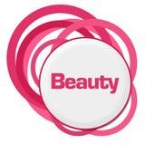 Slumpmässiga rosa cirklar för skönhet vektor illustrationer