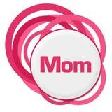 Slumpmässiga rosa färgcirklar för mamma royaltyfri illustrationer