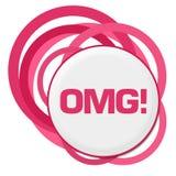 Slumpmässiga rosa färgcirklar för OMG vektor illustrationer