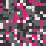 Slumpmässiga rosa färgfyrkanter Slumpmässigt kulört abstrakt begrepp, digital generativ konst för designtextur & bakgrund Rosa fä Royaltyfria Foton
