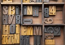 Slumpmässiga typsatta bokstäver royaltyfri bild