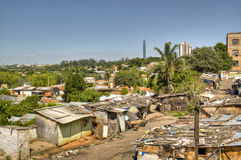 Slums. In Asuncion, Paraguay Royalty Free Stock Photos