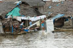 The slums of Belen village in Iquitos. Peru in the Amazon rainforest stock images