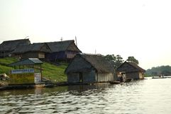 The slums of Belen village in Iquitos. Peru in the Amazon rainforest royalty free stock photography