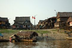 The slums of Belen village in Iquitos. Peru in the Amazon rainforest stock photos
