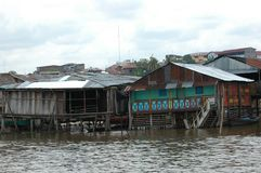 The slums of Belen village in Iquitos. Peru in the Amazon rainforest royalty free stock photos