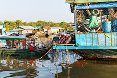 Slums in Cambodia Stock Image